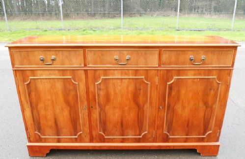 Yew Wood Sideboard Cupboard Base